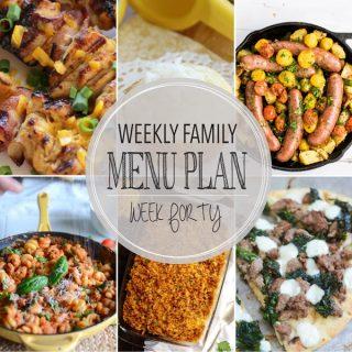Weekly Family Menu Plan - Week 40 | Melanie Makes