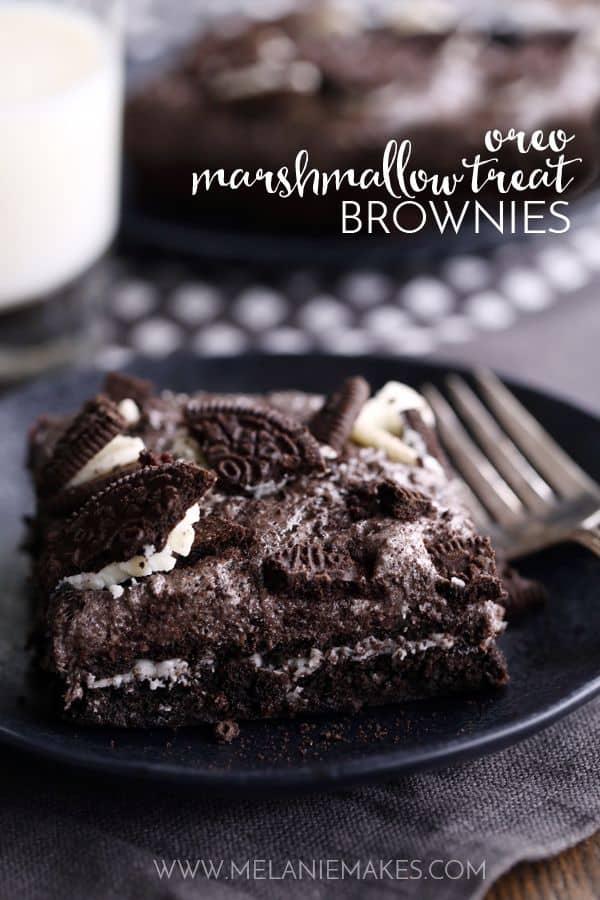 Oreo Marshmallow Treat Brownies