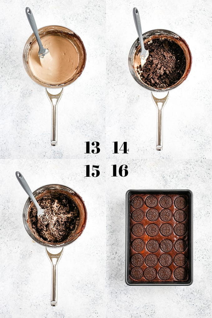 How to prepare Oreo Marshmallow Treat Brownies, steps 13-16.