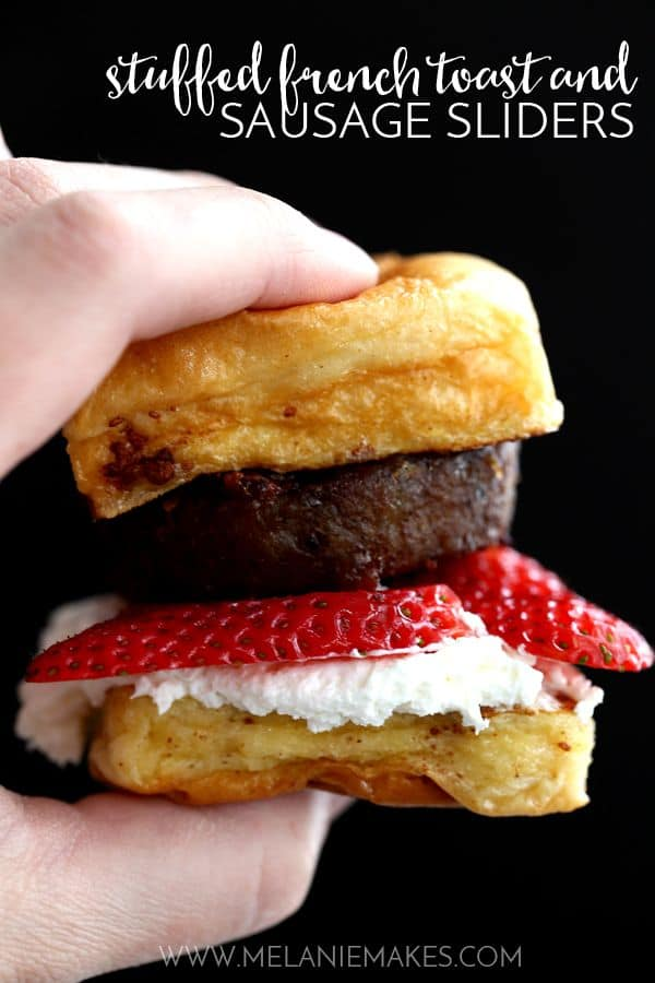 Stuffed French Toast and Sausage Sliders | Melanie Makes