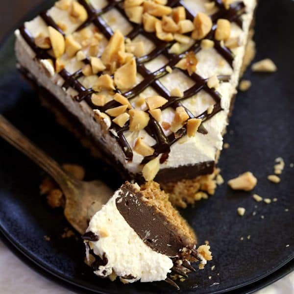 Almost No Bake Drumstick Cheesecake