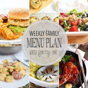 Weekly Family Menu – Week 41