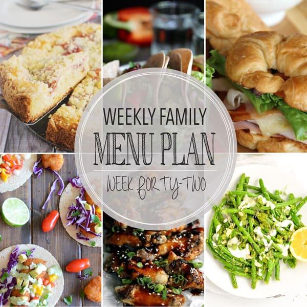 Weekly Family Menu – Week 42