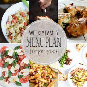 Weekly Family Menu Plan – Week 43