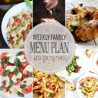 Weekly Family Menu Plan - Week 42 | Melanie Makes