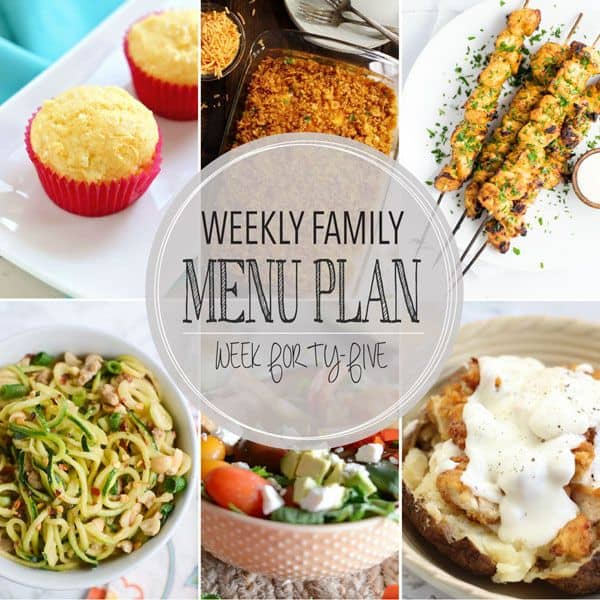 Weekly Family Menu Plan - Week 45 | Melanie Makes