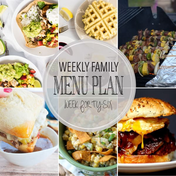 Weekly Family Menu Plan - Week 46 | Melanie Makes
