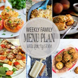 Weekly Family Menu Plan - Week 48 | Melanie Makes