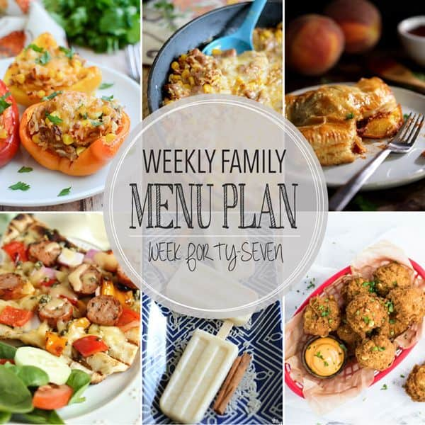 Weekly Family Menu Plan - Week 47 | Melanie Makes
