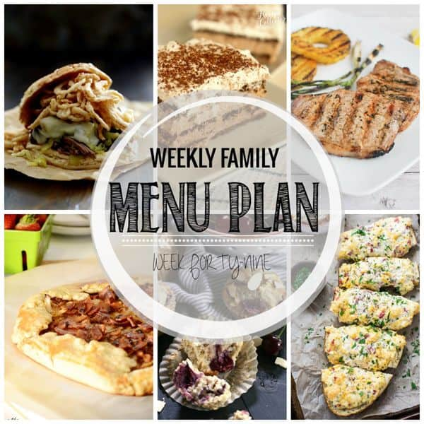 Weekly Family Menu Plan – Week 49