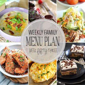 Weekly Family Meal Plan – Week 53