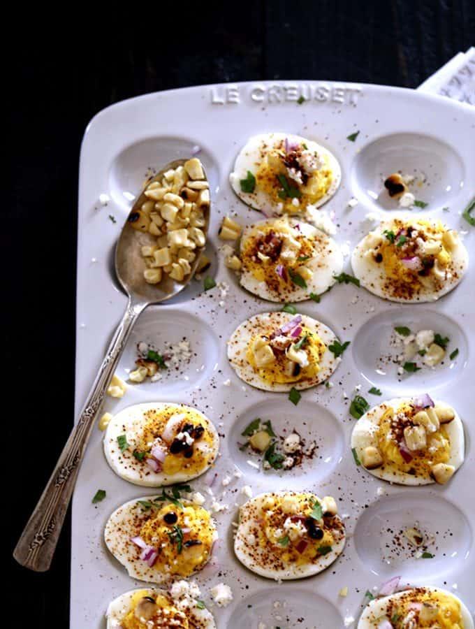 Mexican Street Corn Deviled Eggs   Melanie Makes