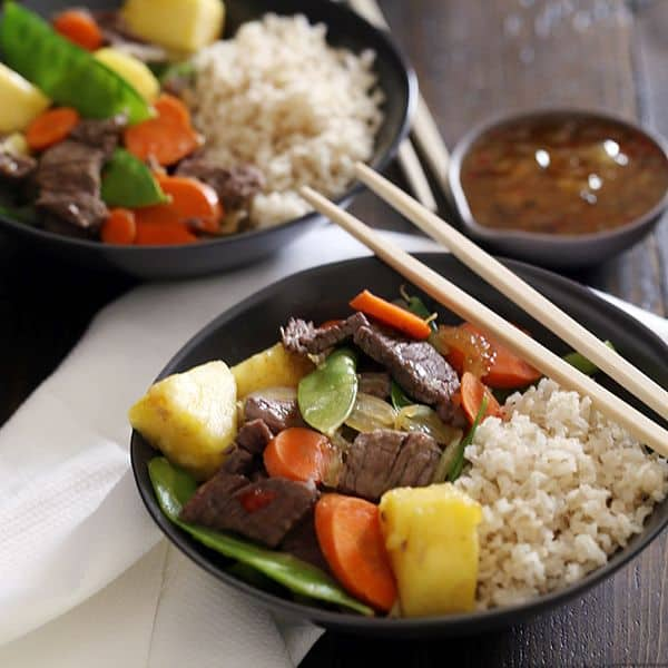 Pineapple Beef Stir Fry | Melanie Makes