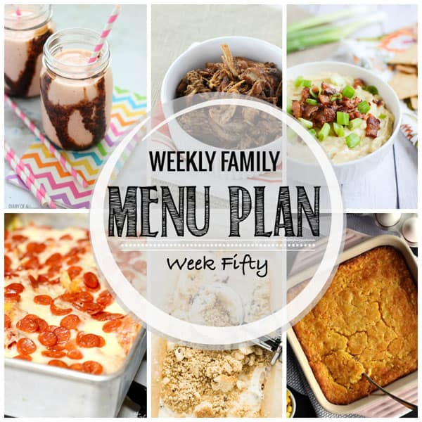 Weekly Family Menu Plan – Week 50