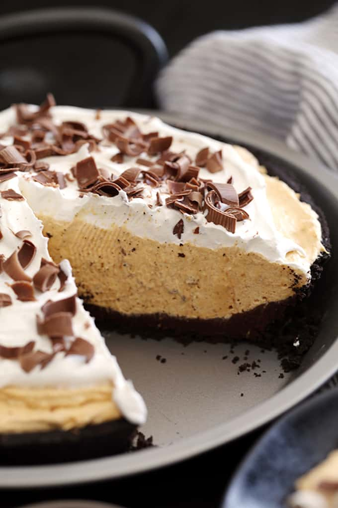 Black Bottom No Bake Pumpkin Cheesecake | Melanie Makes