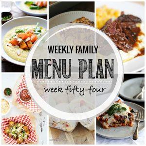 Weekly Family Meal Plan – Week 54