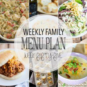 Weekly Family Meal Plan – Week 55