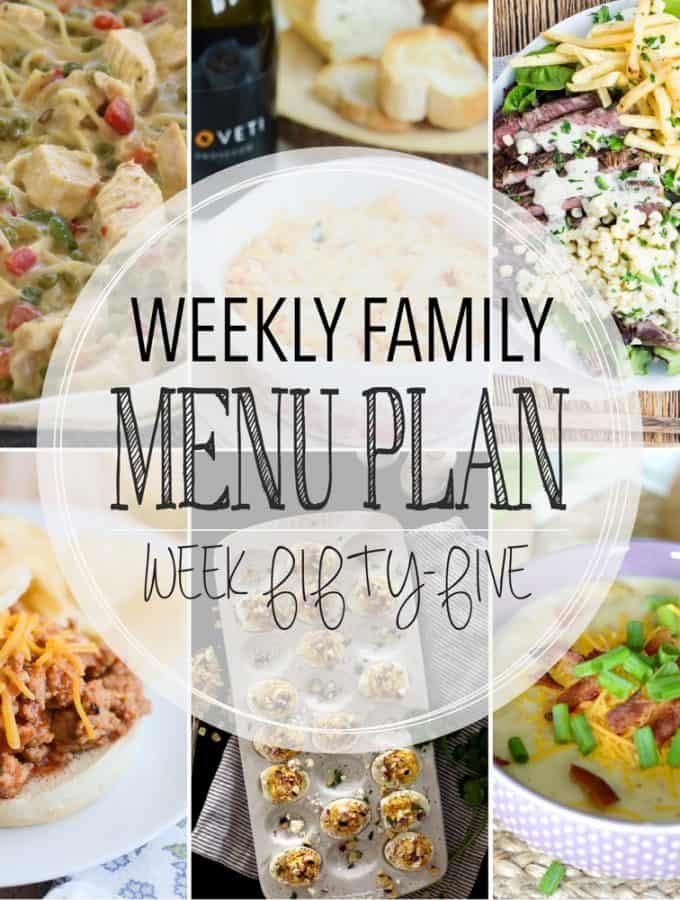 Weekly Family Menu Plan - Week 55| Melanie Makes
