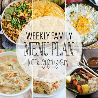 Weekly Family Menu Plan - Week 56  Melanie Makes