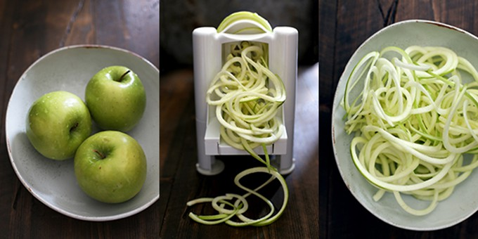 Spiralized Indian Waldorf Salad | Melanie Makes
