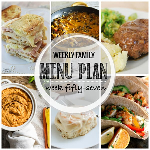 Weekly Family Menu Plan - Week 57 | Melanie Makes