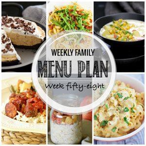 Weekly Family Meal Plan – Week 58