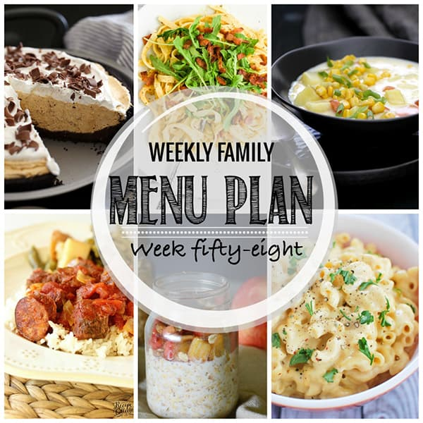 Weekly Family Menu Plan - Week 58 | Melanie Makes