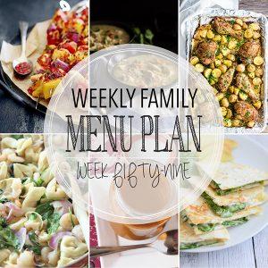 Weekly Family Meal Plan – Week 59