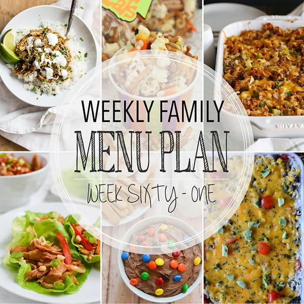 Weekly Family Meal Plan – Week 61