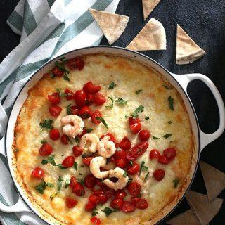 Shrimp Scampi Queso Fundido | Melanie Makes