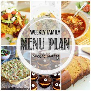 Weekly Family Meal Plan – Week 60