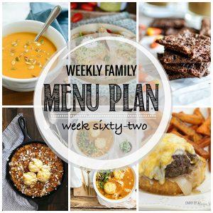 Weekly Family Meal Plan – Week 62