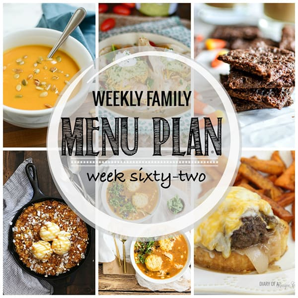 Weekly Family Meal Plan – Week 62