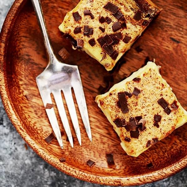 Chocolate Espresso Eggnog Bars | Melanie Makes