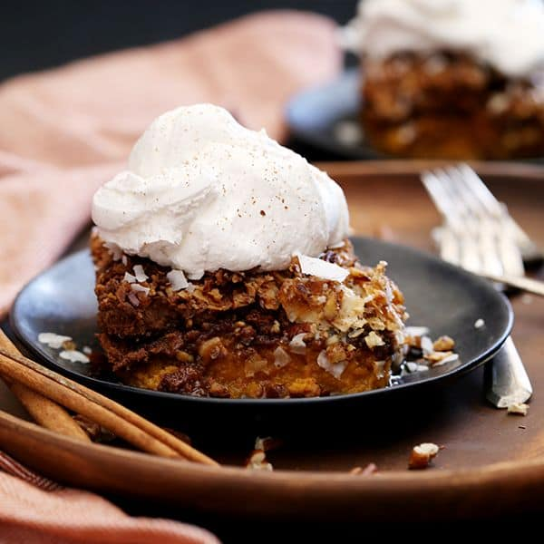 German Chocolate Upside Down Pumpkin Pie