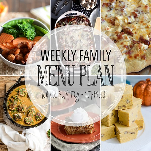 Weekly Family Meal Plan – Week 63