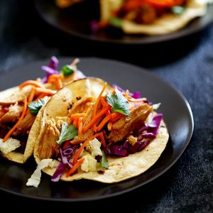 Slow Cooker Hoisin Chili Chicken Tacos