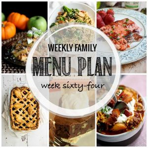 Weekly Family Menu Plan – Week 64