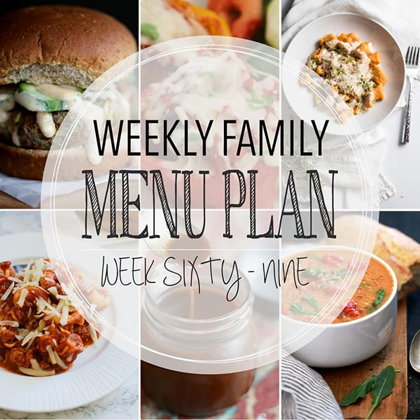 Weekly Family Meal Plan – Week 69