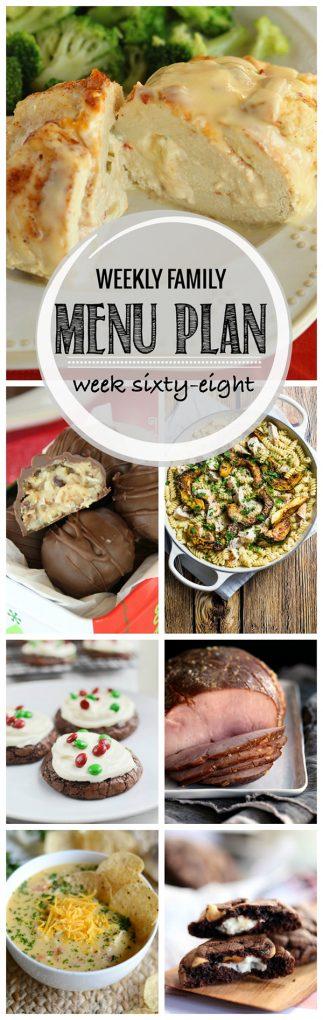 Weekly Family Menu Plan - Week 68 | Melanie Makes