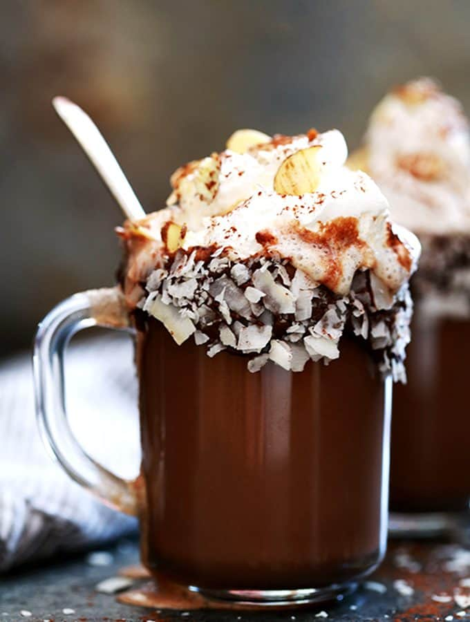 Slow Cooker Almond Joy Hot Chocolate | Melanie Makes
