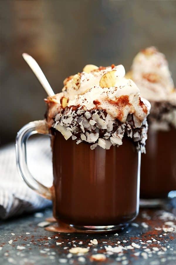 Slow Cooker Almond Joy Hot Chocolate   Melanie Makes