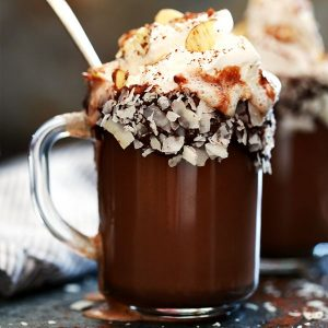 Slow Cooker Almond Joy Hot Chocolate