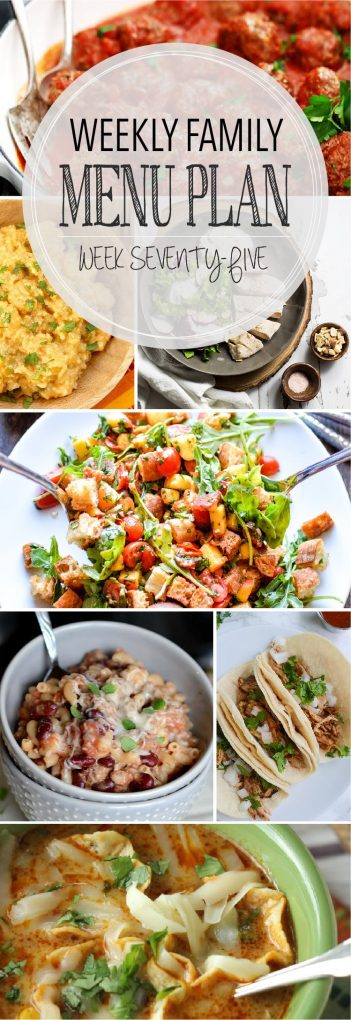Weekly Family Meal Plan - Week 75 | Melanie Makes