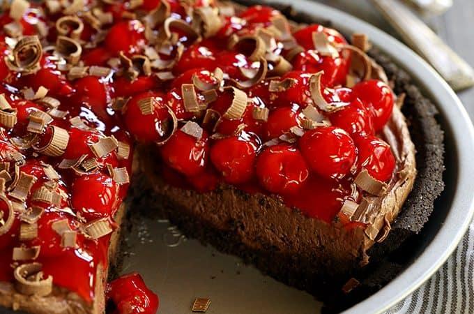 Black Forest No Bake Cheesecake | Melanie Makes