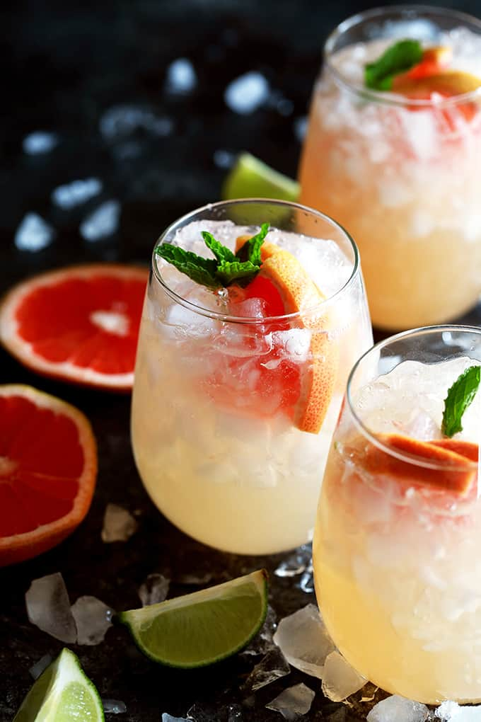 Grapefruit Mojitos | Melanie Makes