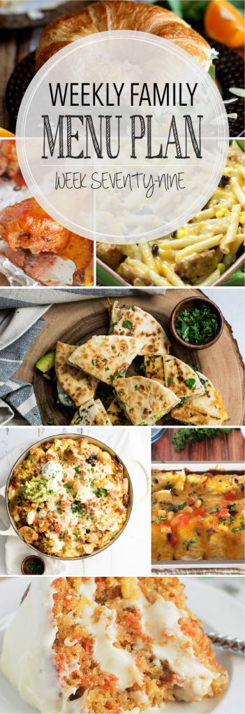 Weekly Family Meal Plan 79   Melanie Makes
