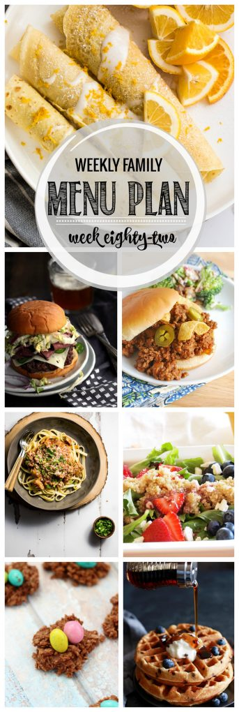 Weekly Family Meal Plan 82 | Melanie Makes