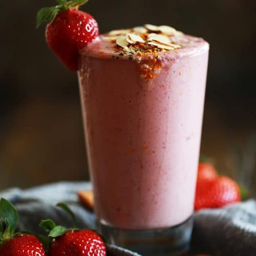 Strawberry Almond Smoothie Melanie Makes