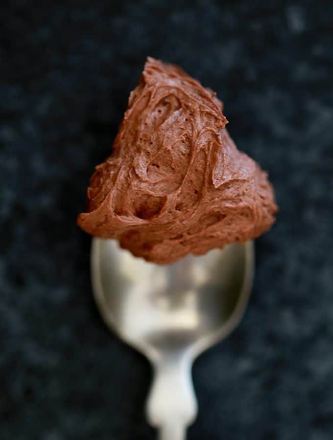 Dark Chocolate Buttercream Frosting | Melanie Makes